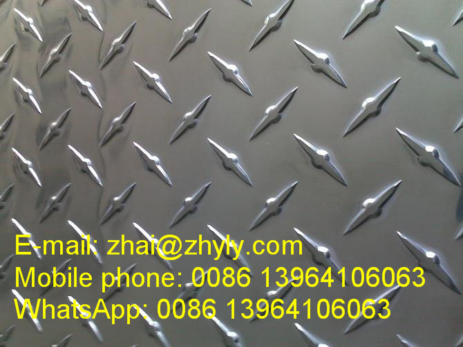 E3 E5 Bright One Bar Pattern Aluminum Panel / Aluminum Tread Plate For Automotive