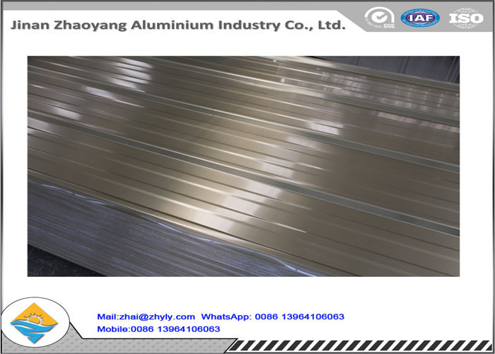 Corrugated Aluminum Manganese Alloy Roof Panels Width 500 - 1500 mm ISO Approval